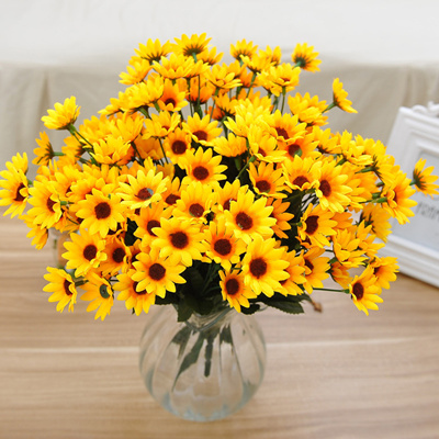 Qoo10 3 brunch bright yellow artificial sunflowers bouquet fake 3 brunch bright yellow artificial sunflowers bouquet fake flower home wedding party decoration shop flower decor mightylinksfo Gallery