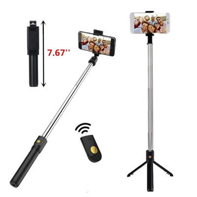3-IN-1 Outdoor Extendable Selfie Stick + h Remote Control Shutter +  Handheld Monopod Tripod Mount fo