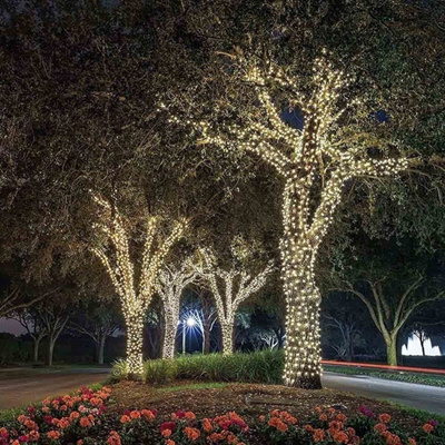 premium selection 65aaf 61729 3 Packs 200 LED Solar Powered Outdoor String Lights, Bright White - 112 Feet