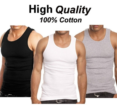 62f35b99ea9a0e Qoo10 - 3 Pcs Underwear Mens 100% Cotton Tank Top A-Shirt Wife Beater  Undershi...   Household   Bedd.