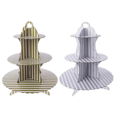 3 Tier Metal Cupcake Stand Holder Tower Wedding Party Dessert Carrier Display