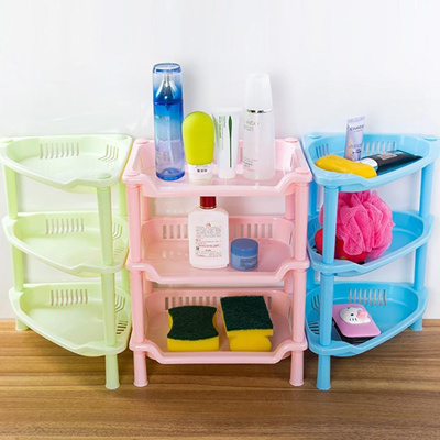 Qoo10 - 3 Tier Plastic Corner Organizer Cabinet Bathroom Caddy Shelf ...