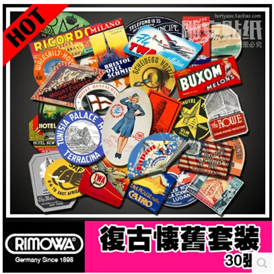 qoo10 30 rimowa 3m suitcase stickers waterproof luggage stickers