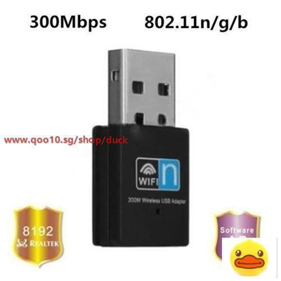 300M USB Wifi Micro Adapter Dongle Plug and Play for Raspberry Pi 2 B+  RTL8192CU (Color: Black)