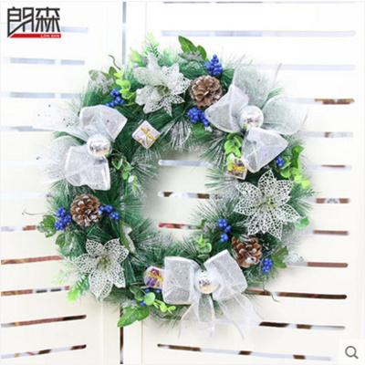 Silver Christmas Wreath.30cm Silver Christmas Wreath Christmas Door Wreath Christmas Decoration Hanging Christmas Decorations Gift 30cm银色圣诞花环圣诞节装饰花环圣诞节门挂礼物圣诞节装饰品