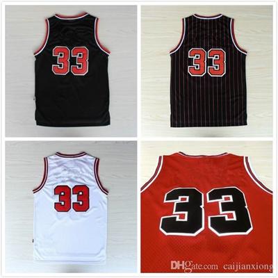 size 40 980ef b32e3 33 Scottie Pippen Jersey, Cheap Basketball Jersey Scottie Pippen New Rev 30  Embroidery Logo, Mens Fr