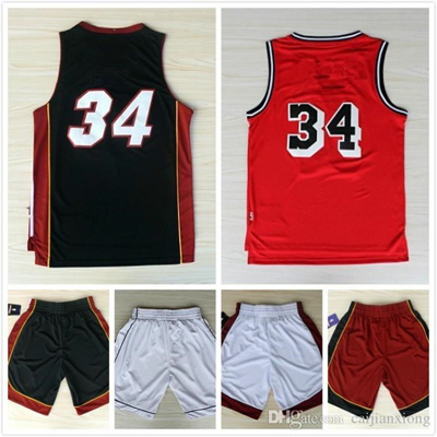 wholesale dealer 68ae8 8bf2b 34 Throwback Vintage Basketball Jerseys Retro Shorts Free fast Shipping  Size S - XXL, Accept Mix Ord