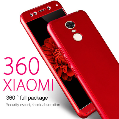 size 40 02027 7914f 360 Degree Full Cover Phone Case For Xiaomi Redmi 5 5 Plus 5A Note5a Case  Hard PC Protective Shell