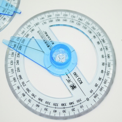 360 Degrees Full Circle Pointer Protractor Ruler Angle Finder Swing Arm  School Office