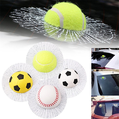 3D Car Stickers Funny Auto Car Styling Ball Hits Self Adhesive Baseball  Tennis Decal Car Body