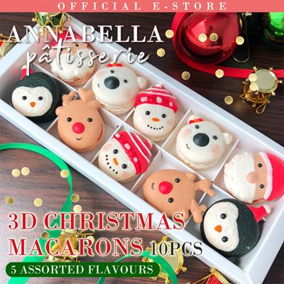 Christmas Macarons.3d Christmas Macarons 10pcs Comes With Gift Box And Bag
