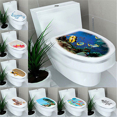 Qoo10 3d Diy Toilet Seats Wall Stickers Bathroom Decoration Decal