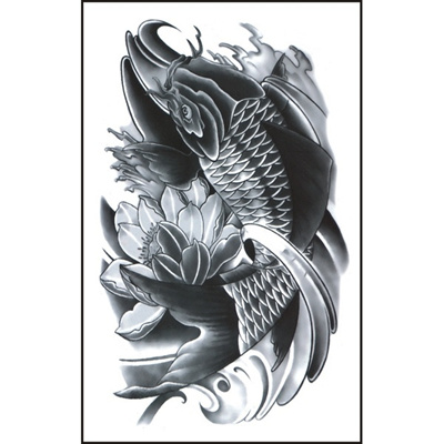 3d New Man S Half Sleeve Arm Temporary Totem Tattoo Stickers Body Art Color Black