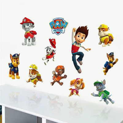 3d Paw Patrol Dogs Cartoon Wall Stickers Wallpaper Kids Room Decoration Diy Home Decals Animals Mura