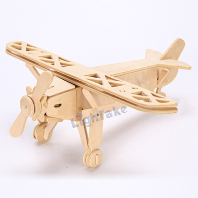 3D Wooden Puzzle Jigsaw Louis Plane Model Toy DIY Kit for Children And  Adults
