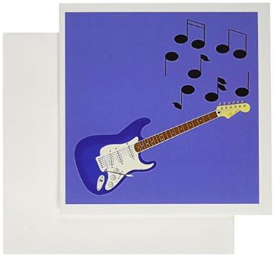 Qoo10 3drose blue sunburst guitar with musical notes greeting 3drose blue sunburst guitar with musical notes greeting cards 6 x 6 inches m4hsunfo