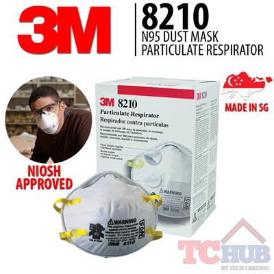 Approvedsuited dusty For Condition 3m3m Filter Hazy niosh N95 Made 8210 Sg95 In Efficiency Mask