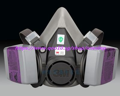 3M 6200 with 7093 anti-dust masks P100 particulate welding fume glass fiber  haze masks