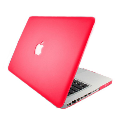 4-in-1 13 3˝ Macbook Pro Case Cover Keyboard Screen Protector Dust Plug -  Hot Pink