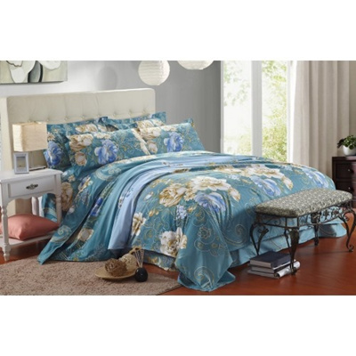 4 In 1 Queen Size Fitted Bed Sheet High Quality Flower Series   6