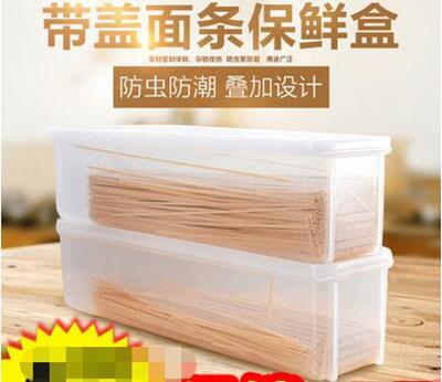 4/set Japanese Kitchen Plastic Sealed Box Chopsticks Tube Italian Noodles  Noodle Crisper Chopstick