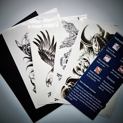 Qoo10 4 Sheets Mix Temporary Tattoo Stickers Waterproof Transfer Paper Body Women S Clothing