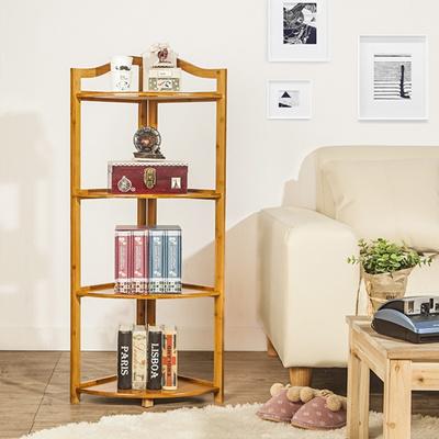 Peachy 4 Tiers Corner Shelves Wooden Diy Display Rack Natural Bamboo 31Cm100Cm Download Free Architecture Designs Itiscsunscenecom