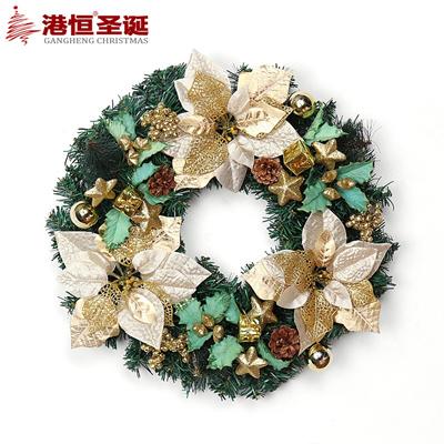 40cm Gold Hong Kong Hang Christmas Garland Red Blue Christmas Decoration Christmas Wreath Christmas