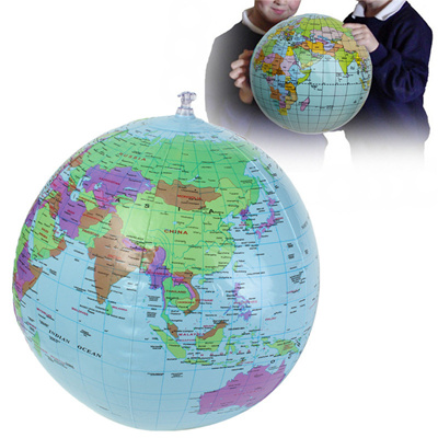 40cm inflatable world earth globe atlas map beach ball science geography education