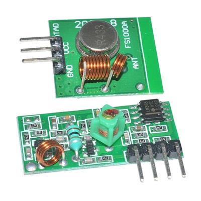 433Mhz RF Transmitter Receiver Link Kit For ARM/MC U Remote Control MO  Dimensions 19 * 19mm