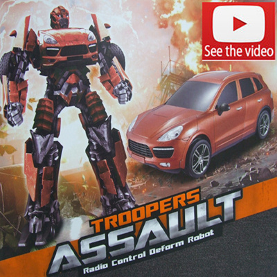 45mall45mall Suv Transformers Rc Car Robot Remote Control Car With Music Rechargeable Childrens Gifts Kids Gift Sports Car Adult Figures Operating