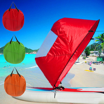 46 Kayak Sail Portable Downwind Wind Paddle Instant Popup Canoe Accessories  PVC