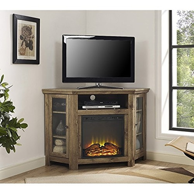 Qoo10 48 Inches Corner Fireplace Tv Stand In Barnwood Cameras
