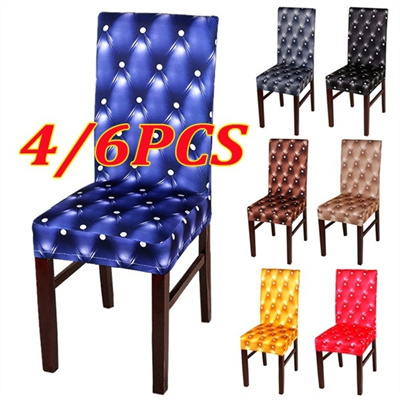 4pcs/6pcs Imitation Leather Stretchy Chairs Cover Slipcover For Home  Restaurant Decor