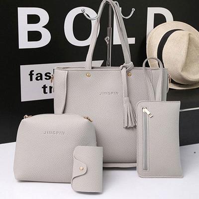 b329f90a29e8 4pcs set Women Leather Handbag Lady Shoulder Bags Tote Purse Messenger  Satchel Set HOT SALE