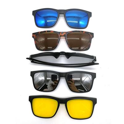 d07145ec1ccf0 Qoo10 - 5+1 suit Multi function Clip On Sunglasses men Magnetic clip  Sunglasse...   Fashion Accessor.
