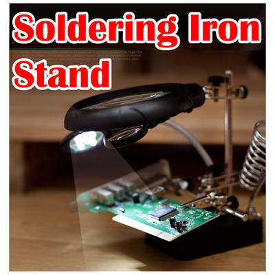 qoo10 5 led auxilary clip magnifier soldering iron stand magnifier holder tools. Black Bedroom Furniture Sets. Home Design Ideas
