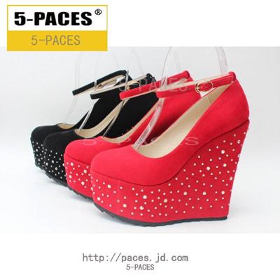 38275f0c06e6 Qoo10 - 5-paces brand red diamond wedding shoes super high slope heel thick  bo...   Men s Bags   Sho.