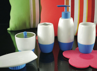 5 piece bathroom accessories setmany designs and colours available - Bathroom Accessories Colours