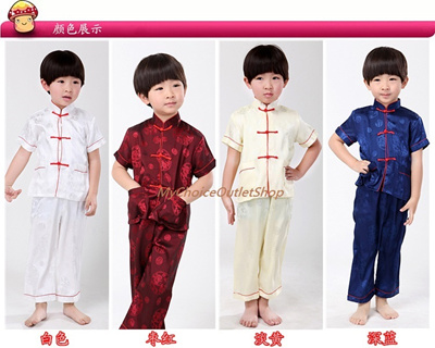 a815bdbec Qoo10 - 50% off CNY Chinese New Year Gifts Traditional Boys TOP SHIRT PANTS  Cl... : Kids Fashion