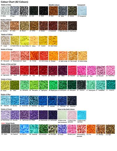 5000 pcs fused/ ironing beads similar to perler/ hama midi/ mini beads  (packs or bottles)