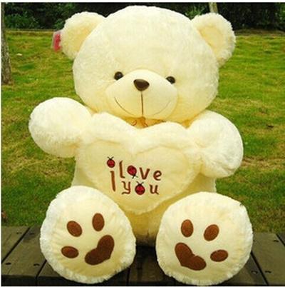 Qoo10 50cm New Beige Giant Big Plush Teddy Bear Soft Gift For