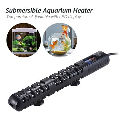 50w Submersible Aquarium Heater Fish Tank Water Heating Rod Temperature Adjule With Led Display