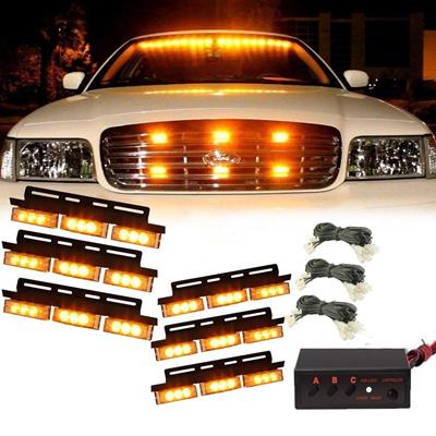 Vehicle Strobe Lights >> 54 Led Amber Emergency Vehicle Strobe Lights Car Truck Flash Warning Lights For Front Grille Deck