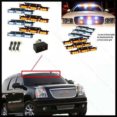 Vehicle Strobe Lights >> 54 Led Emergency Car Vehicle Strobe Lights Bars Warning Amber White Color Yellow White