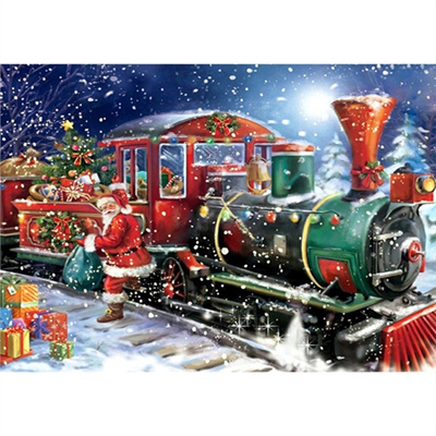 5d christmas train diamond painting embroidery diy home decoration