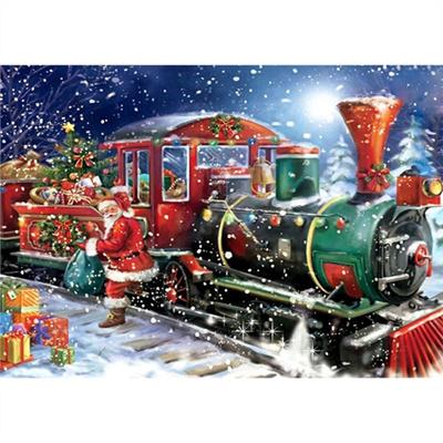 5d christmas train diamond painting embroidery diy home decoration