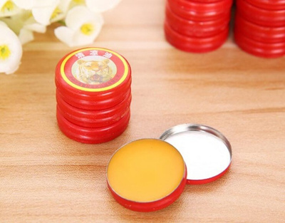5pcs Chinese Tiger Balm Red Herbal Rub Muscles Pain Relief Headache 3g  SNY85PKF