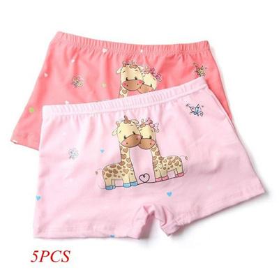 Qoo10 - 5pcs Cute Kid Girls Soft Underpants Panties Cartoon Giraffe Print  Unde...   Leisure   Travel a26da3566321