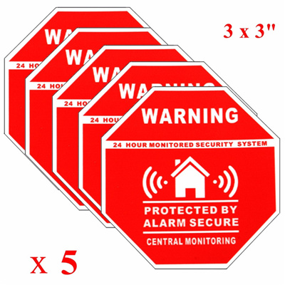 Safurance Premises Are Projected By Closed Circuit Television CCTV Signs  Stickers 30x20cm Home Security Warning-in Warning Tape from Security &  Protection ...